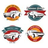 Retro car service badges Stock Image