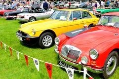 Retro car show Stock Photo