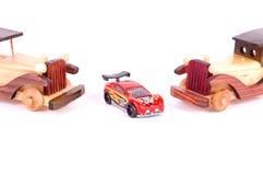 Retro car and sporting car Stock Photo