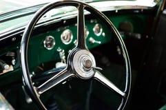 Retro car steering wheel. Retro car elegant steering wheel Royalty Free Stock Photo