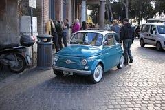 Retro car on the street. Retro car in the centre of Rome, Italy Stock Photos