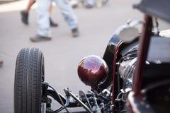 Retro car on the street enthusiast exhibition Stock Photo