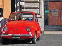 Retro car in the street of Rome, Italy Stock Image