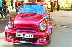 Retro car on the street in Vinnytsia, Ukraine Stock Photo