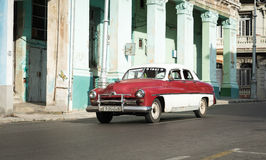 Retro car on streets of Havana Royalty Free Stock Photography