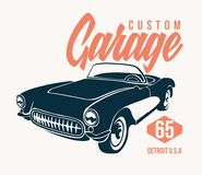 Retro car t shirt design– stock illustration – stock illustration file. Retro car t shirt design – stock illustration – stock illustration file Vector Illustration