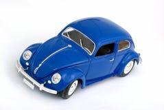 A retro car toy. A retro blue car toy Royalty Free Stock Photography