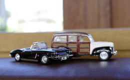 Retro car toy Stock Photos
