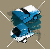 Retro Car typographic vintage style background. Vector illustration. Stock Photography