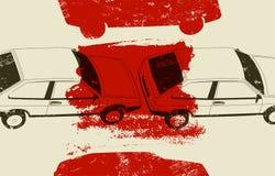 Retro Car typographic vintage style background. Vector illustration. Royalty Free Stock Photo