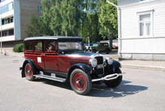 Retro Car. Uusikaupunki, Finland - August, 9, 2014: Well restored Nash club car stock images