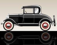 Retro car. Vector retro car. Gradient mash .Illuctration clip art Stock Photo