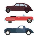 Retro car vector illustration. Royalty Free Stock Photos