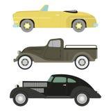 Retro car vector illustration. Stock Photos