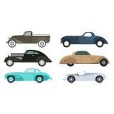Retro car vector illustration. Royalty Free Stock Photo