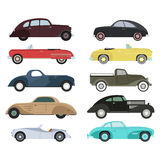 Retro car vector illustration. Royalty Free Stock Image