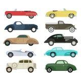 Retro car vector illustration. Stock Image