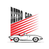Retro car - vector illustration Royalty Free Stock Images