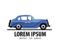 Retro car vector logo design template. transport Royalty Free Stock Photography