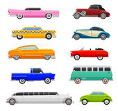 Retro car vector vehicle. Royalty Free Stock Images