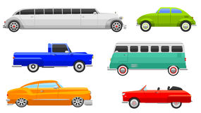 Retro car vector vehicle Stock Photos