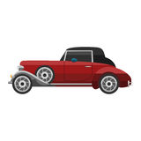 Retro car vector vehicle. Royalty Free Stock Photos