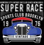 Retro car. Vintage car. Sport car. Royalty Free Stock Photography