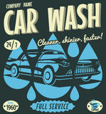 Retro car wash sign Royalty Free Stock Photography