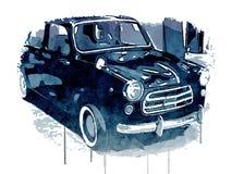 Retro car watercolor style Stock Photos