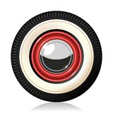 Retro car wheel. Stock Photo