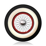 Retro car wheel. Royalty Free Stock Images