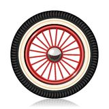 Retro car wheel Royalty Free Stock Photography
