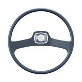 Retro car wheel isolated on white background. 3d rendering Royalty Free Stock Image