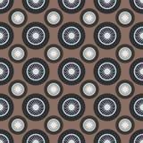 Retro car wheel seamless pattern vector illustration. Royalty Free Stock Image