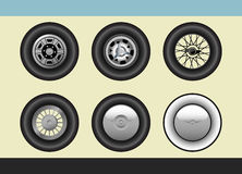 Retro car wheels Royalty Free Stock Photography