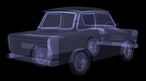 Retro car. X-ray render Stock Image