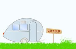 Retro caravan trailer Royalty Free Stock Image