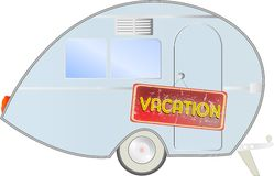 Retro caravan Stock Photo