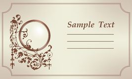 Retro card 1. Retro card wish ornamental frame for photo Royalty Free Stock Photo