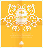Retro card with bakery logo label Royalty Free Stock Images