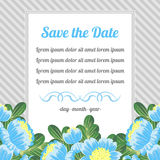 Retro card with blue flowers Royalty Free Stock Images