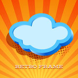 Retro card with cloud sign Royalty Free Stock Image