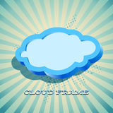 Retro card with cloud sign Royalty Free Stock Images
