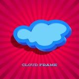 Retro card with cloud sign Stock Photos
