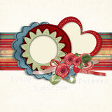 Retro card  for congratulations or invitation with Royalty Free Stock Photos