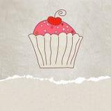 Retro card with cupcake. EPS 8 Stock Photos