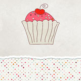 Retro card with cupcake. EPS 8. Vector file included Stock Photos