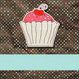 Retro card with cupcake. EPS 8. Vector file included Stock Images