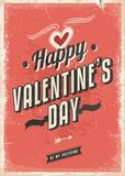 Retro card design for Valentines Day Stock Photography