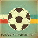 Retro card - Euro 2012 football Stock Images